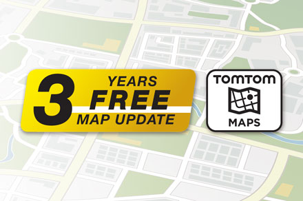3 Years Free-Of-Charge Map Updates - INE-F904D