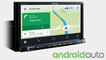 Online Navigation with Android Auto - INE-W710DC