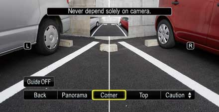 Multi-View Rear Camera HCE-C252RD for Audi A4 - Audi A5 - Multi-view: split screen provides sharp images of left and right rear.