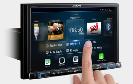 High Resolution WVGA Touch Screen  - X803DC-U
